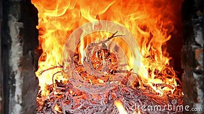 Uitbarsting van brand stock footage