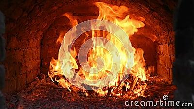 Uitbarsting van brand stock videobeelden