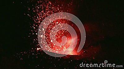 Uitbarsting van Volcano Etna, Italië