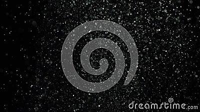 Uitbarstingen van wit stof op zwarte achtergrond Voorraadlengte Explosiestromen van wit poeder op zwarte geïsoleerde achtergrond stock footage