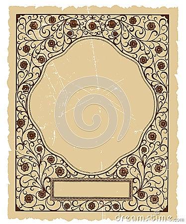 Uitstekend Bloemen Decoratief VectorOntwerp Als achtergrond