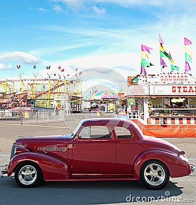 Uitstekende auto en Carnaval