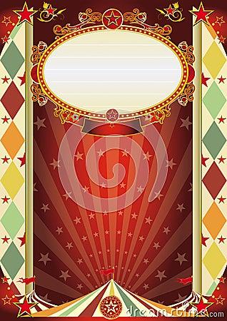 Uitstekende de ruitaffiche van het circus