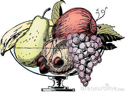 Uitstekende jaren  50Kom Fruit