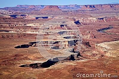 Uitzicht van het Canyonlands het Nationale Park