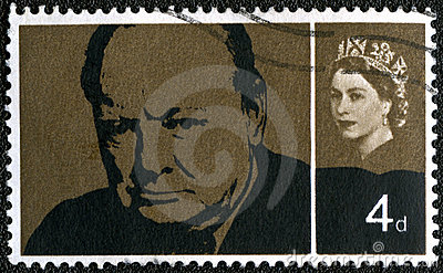 UK - 1965: shows Sir Winston Spencer Churchill Editorial Image