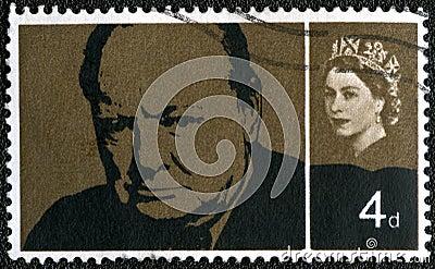 UK - 1965: shows Sir Winston Spencer Churchill Editorial Image