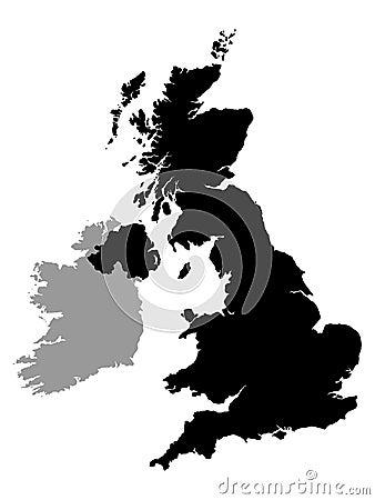 Free Uk And Ireland Map Stock Photos - 4304443