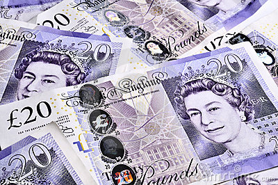 UK Banknotes Editorial Stock Image