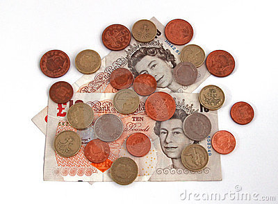Uk brytyjska waluta Fotografia Editorial