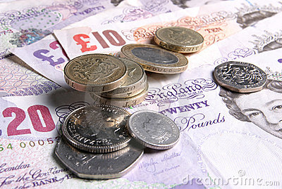 UK Coins Notes Money Currency Editorial Stock Image