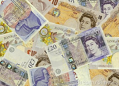 UK Currency Background Editorial Photo