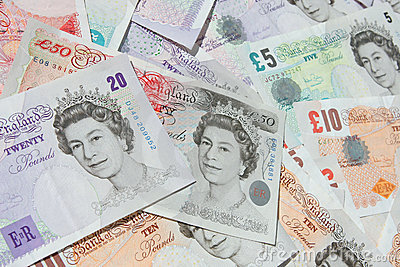 UK Currency Banknotes Money Editorial Photography