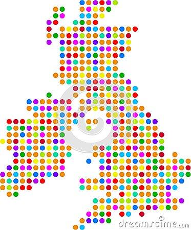 Free Uk Dot Map Stock Photo - 1153020