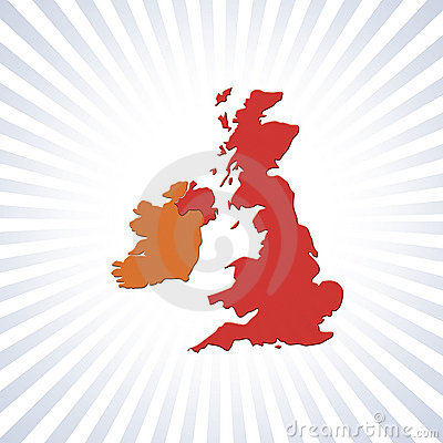 UK and Eire outline map