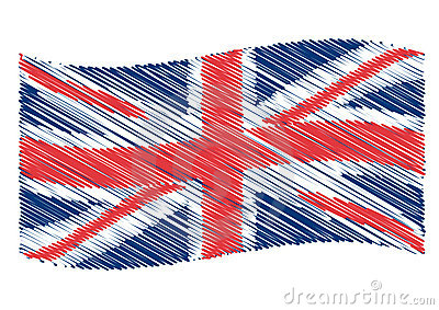 UK flag art