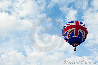Uk flag baloon