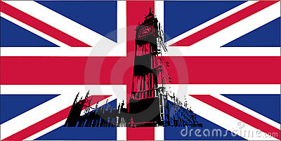 UK flag with Big Ben