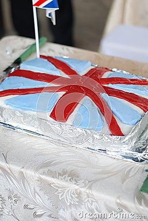 UK flag cake