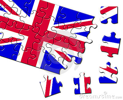 UK flag jigsaw