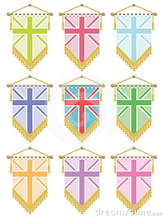 Uk flag pennants