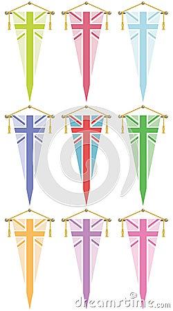 Uk flag pennants