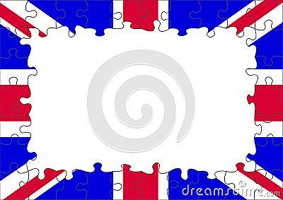 UK flag puzzle border