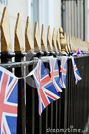 UK flag on railings