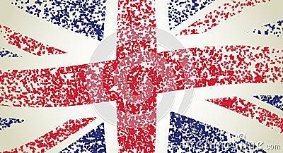 UK flag, wavy