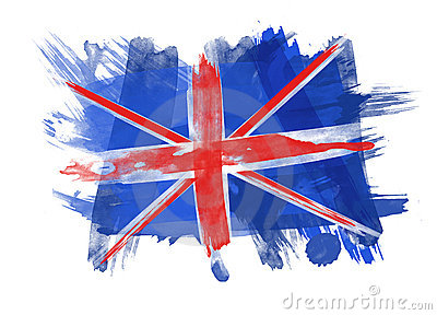 UK Flag in white Background