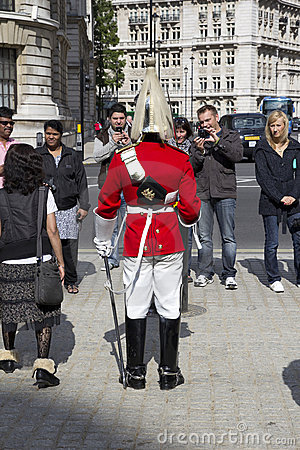 UK Hourse Guard Editorial Stock Image