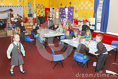 UK infant school classroom Editorial Image