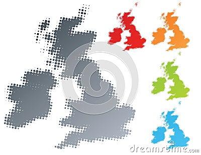 UK Ireland modern halftone design element