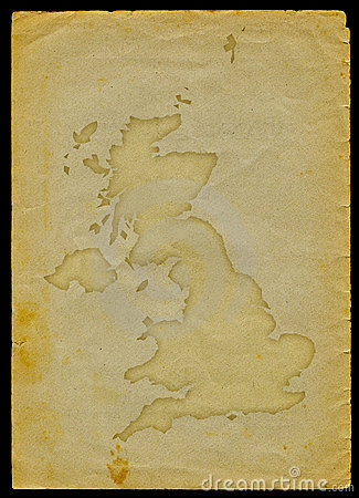 UK map on old paper II