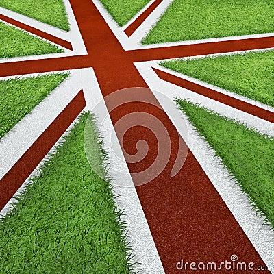 UK Olympics track flag
