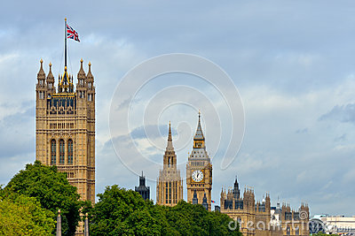 UK parliament flying flag