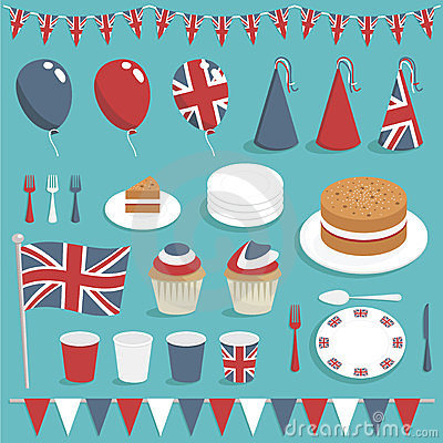 Free Uk Party Set Stock Photo - 23810170