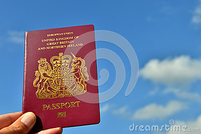 UK Passport and sky