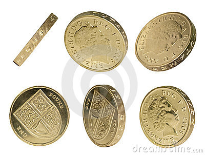 UK Pound Coin isolated