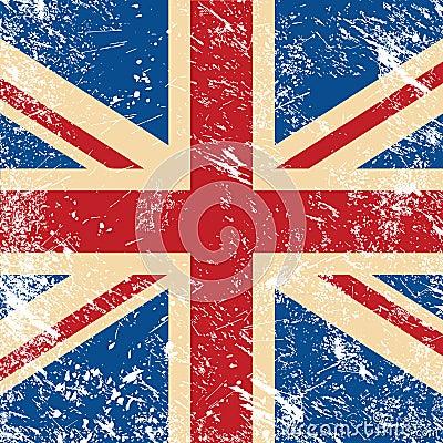 Free UK Retro Flag Royalty Free Stock Photography - 25797827