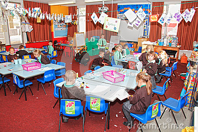 UK school classroom Editorial Stock Photo