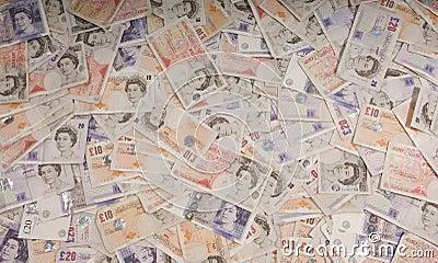 UK Sterling Backdrop Editorial Stock Image