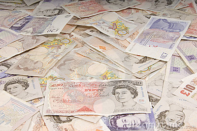 UK Sterling Backdrop Editorial Stock Image