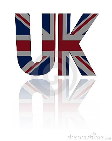 UK text with British flag