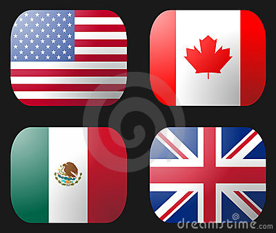 UK USA Mexico Canada Flag