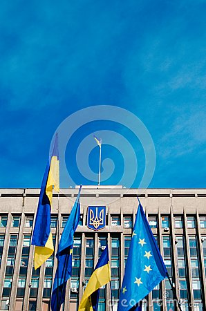 Ukraine flag Editorial Stock Image