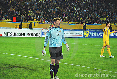Ukraine goalkeeper Andriy PYATOV Editorial Photography
