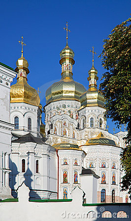 Free Ukraine. Kiev. Kievo-Pecherskaya Lavra. Cathedral Royalty Free Stock Photos - 13229438
