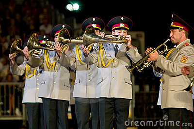 Ukraine military band Editorial Image