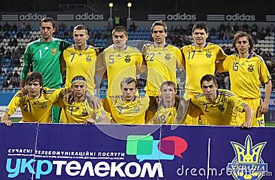 Ukraine national soccer team Editorial Photo